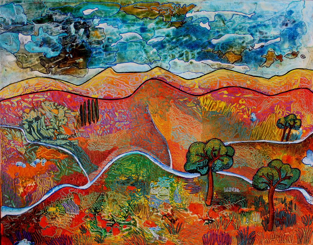 Paysages victoria denim l 39 art et la lumi re peintre - Paysage peinture facile ...