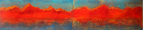 Rivage diptyque 146 X 24
