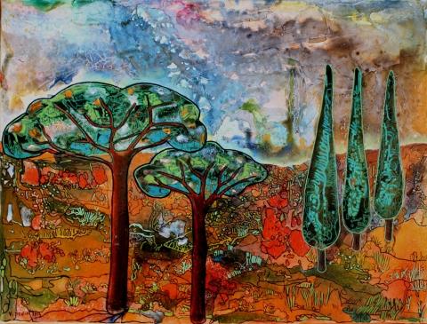 Paysage de Provence, collection particulière